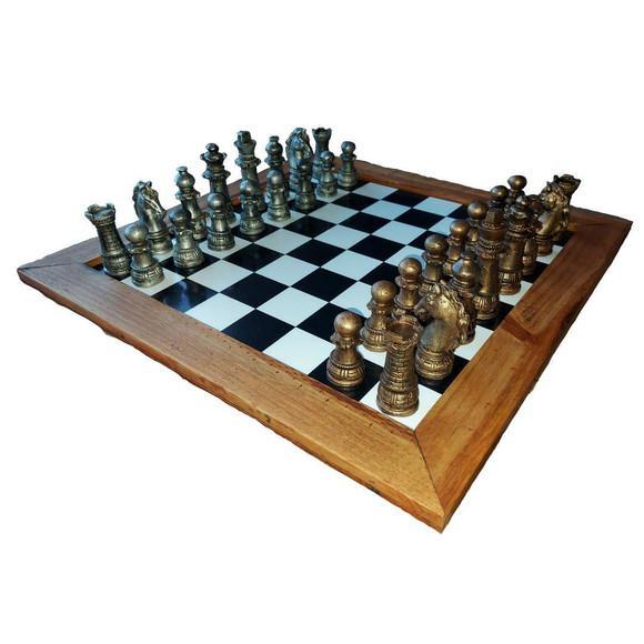 Jogo de xadrez tradicional tamanho grande 32 peças