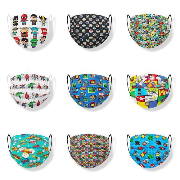 Kit 03 máscaras infantis super heróis tecido triplo
