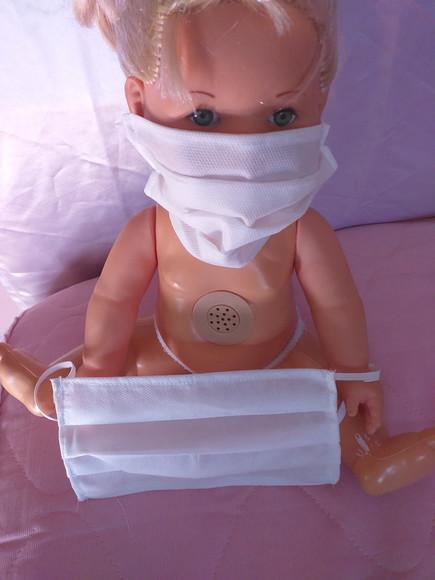 Mascaras de tecido 100% algodao tecido triplo