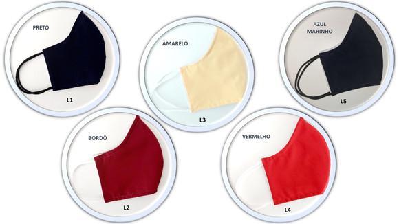 Mascaras de tecido dupla face + filtro tnt (10 unid.)+brinde