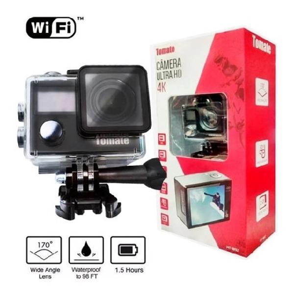 Mini câmera 4k ultra hd filmadora esporte ação tomate