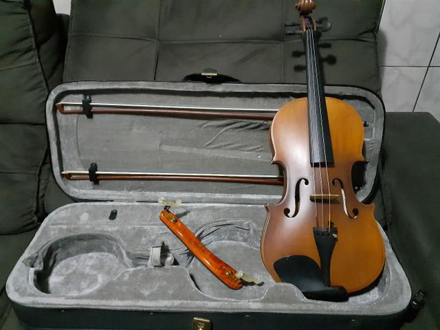 Viola de arco marca schiefer + arco e estojo