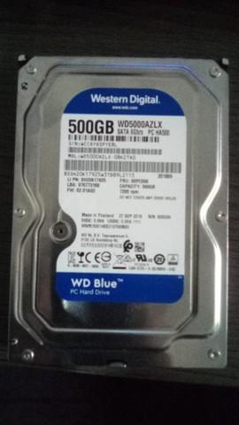 Hd 500 gb sata com muito pouco uso.