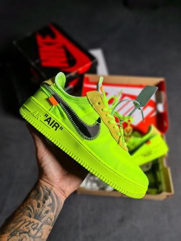 Nike air force one x off-white 'volt'
