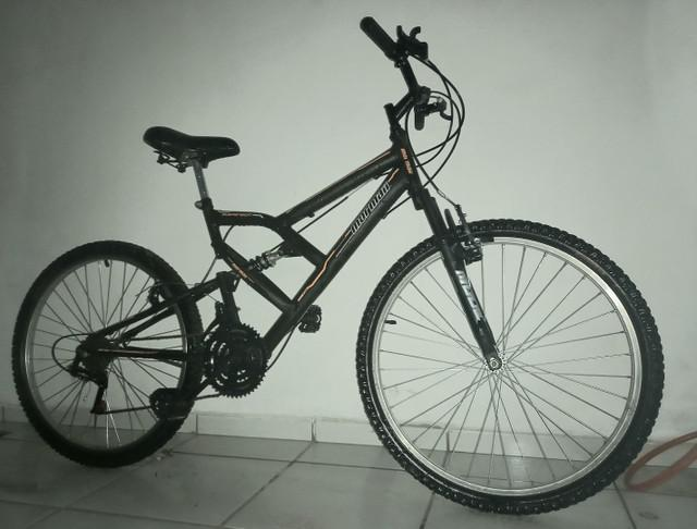 Bicicleta mormaii aro 26 fullsion 18v c18 preto fosco