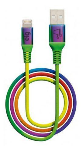 Cabo p// iphone - lightning - refor/u00e7ado colorido elg *