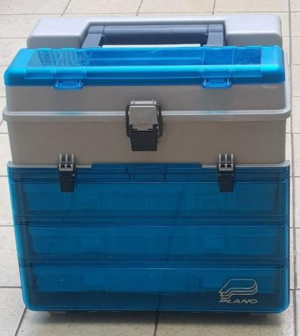 Caixa pesca plano modelo 3500 com 3 estojo plástico