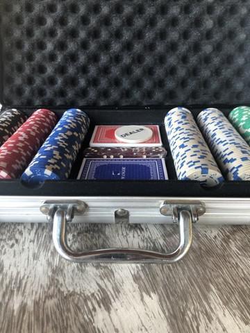 Maleta de poker - usada apenas uma vez!