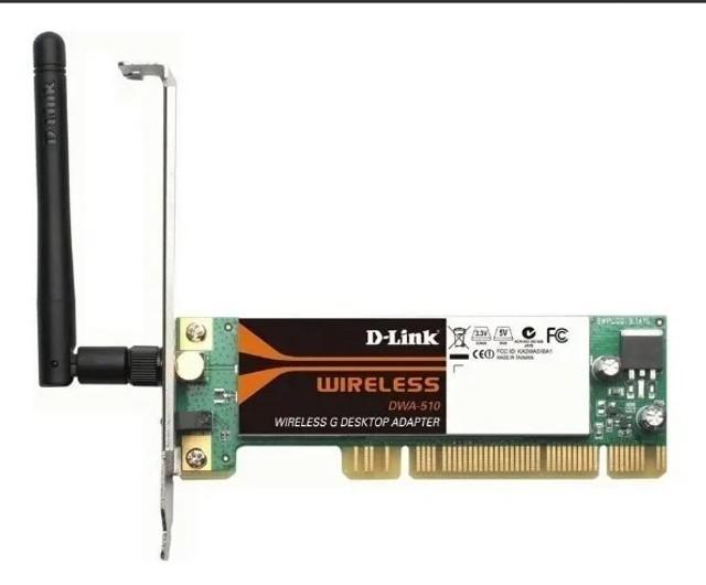 Placa adaptador dekstop wireless d-link dwa-510