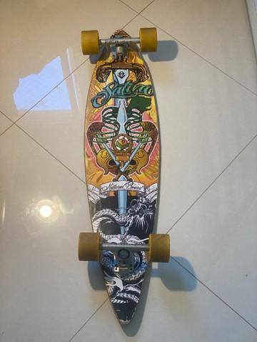 Skate long board passeio amarelo - confira nas fotos!!!