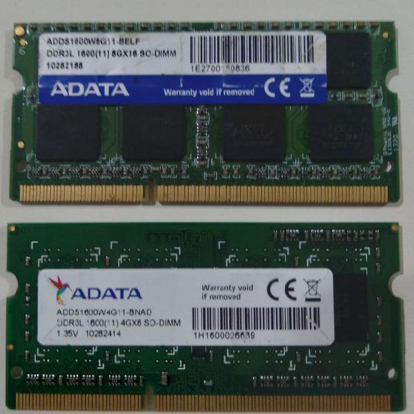 Vende se 2 memorias adata frequência 1600.