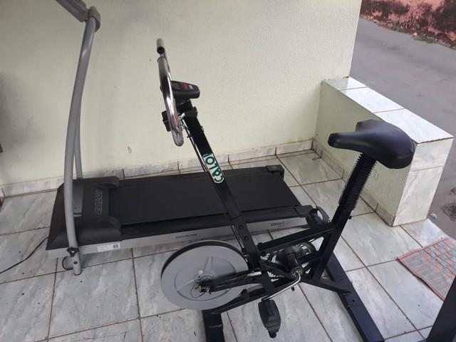 Esteira elétrica e bicicleta ergométrica