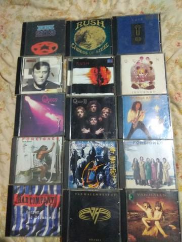 Cds de rock originais, alguns raros r$20
