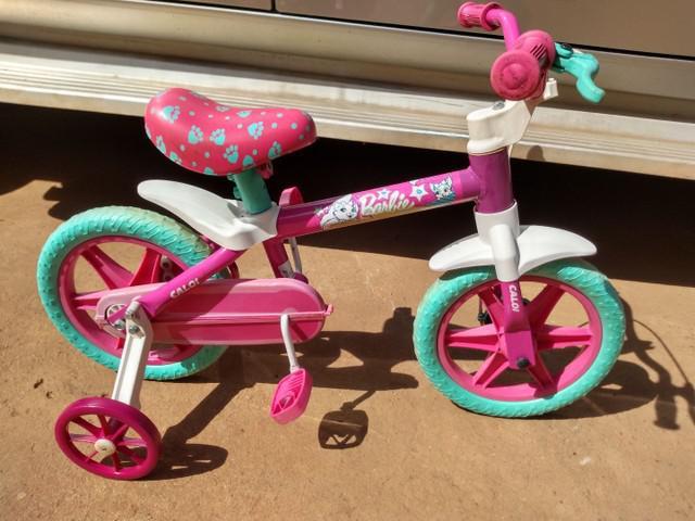 Bicicleta infantil aro 12 (caloi barbie)