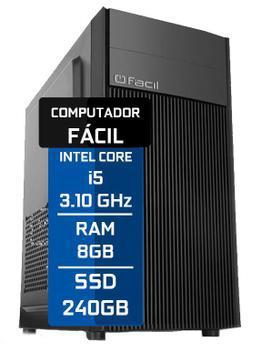 Computador desktop intel core i5 3.1ghz 8gb 240 ssd - facil