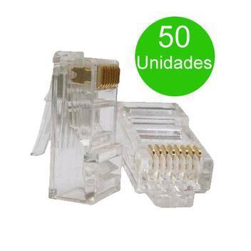 Conector rj45 50 unidades cat5e terminal rj-45 para cabo de
