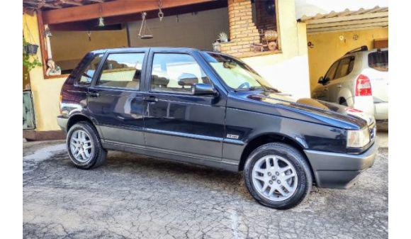 Fiat uno 1.6 1.6 mpi 2p e 4p 95/95 azul