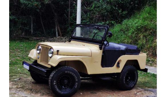 Ford jeep willys 2.6 cj5 67/67 bege