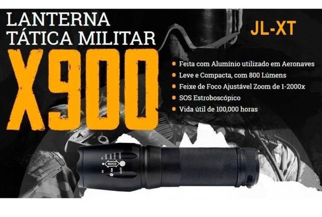 Lanterna tática militar x900 legitima novo lançamento
