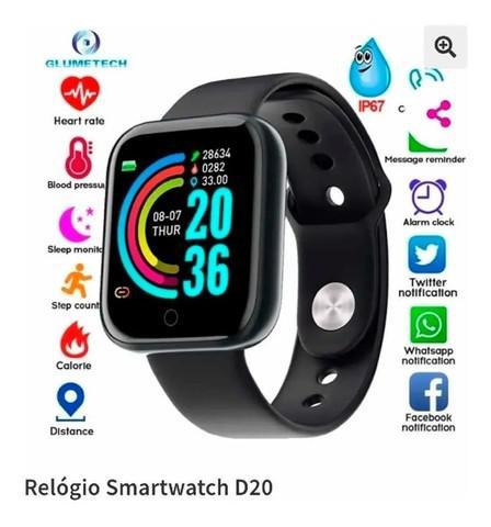 Relogio inteligente smartwatch d20 bluetooth monitor wpp: *