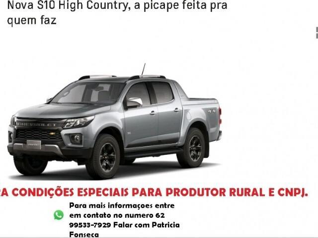Chevrolet s10 2.8 high country 16v turbo branco 2021/2022 -