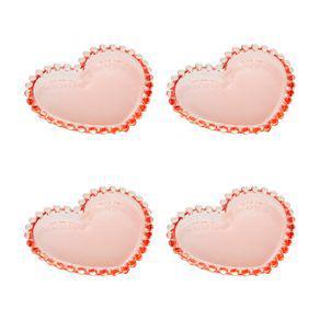 Jogo pratos em cristal wolff pearl coração 12x10cm 4