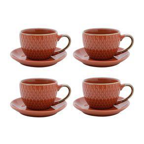 Jogo xícaras para café porcelana bon gourmet drops 90ml 4