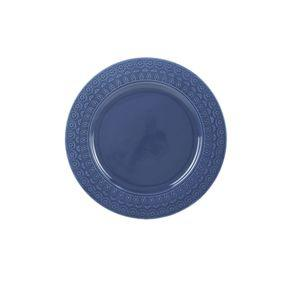 Prato de sobremesa em porcelana wolff grace 19cm azul