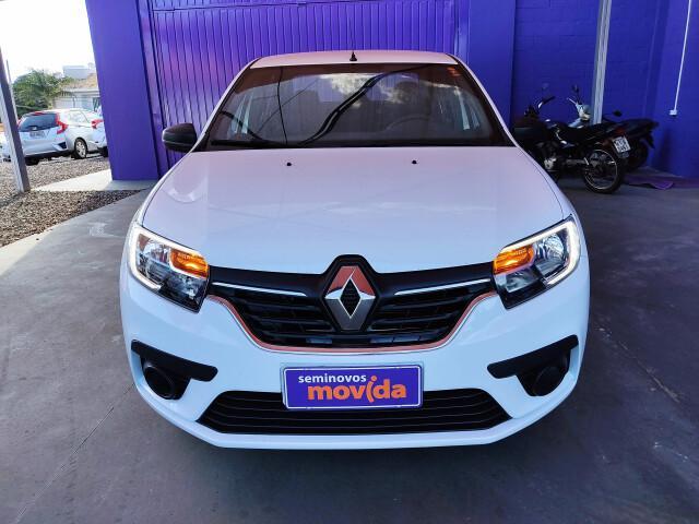 Renault logan 1.0 12v sce life branco 2020/2021 - campo