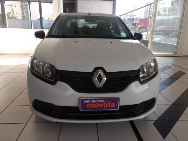 Renault logan 1.0 authentique branco 2018/2019 - uberlândia