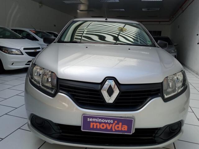 Renault logan 1.0 authentique prata 2019/2020 - são paulo