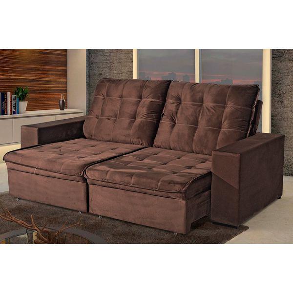 Sofá retrátil e reclinável 3 lugares berley 200 - bom