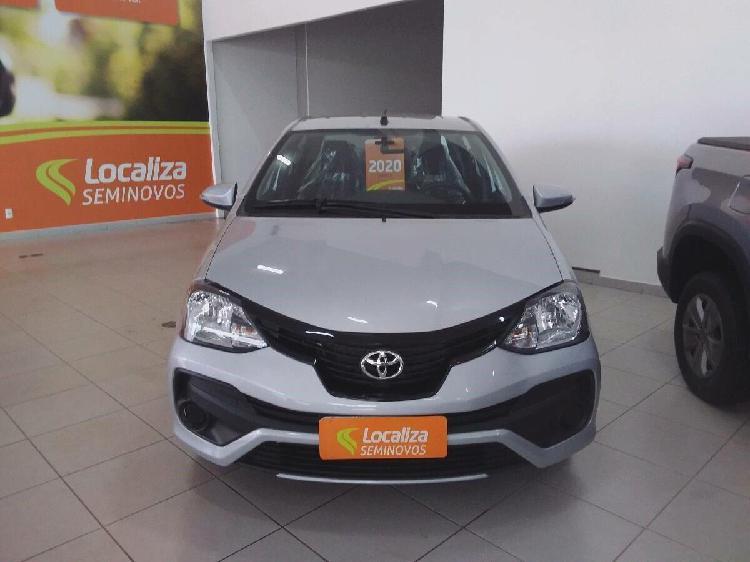 Toyota etios 1.5 x plus 16v cinza 2019/2020 - anápolis