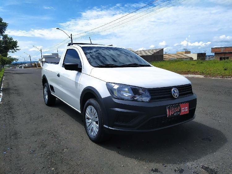 Volkswagen saveiro cs 1.6 robust branco 2019/2019 - mineiros