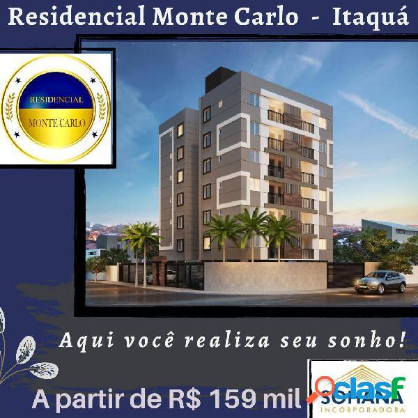 Residencial monte carlo possui 24 apartamentos a partir de 45,47 m2 -itaqua