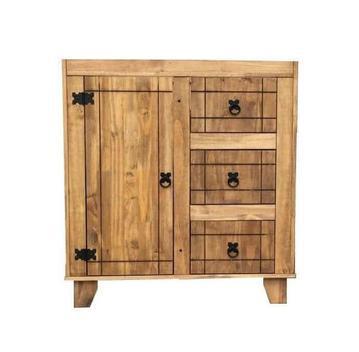 Balcão de pia para banheiro madeira maciça 85x80x50 neppel