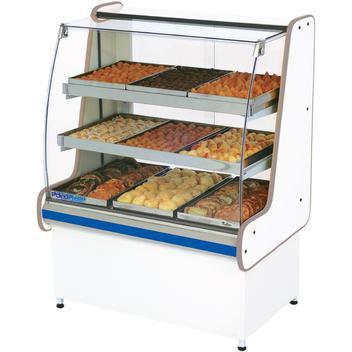 Balcão estufa 125 cm vidro reto polo frio - balcão caixa e