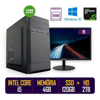 Computador pc cpu intel i5 4gb ssd 120gb hd 2tb windows 10