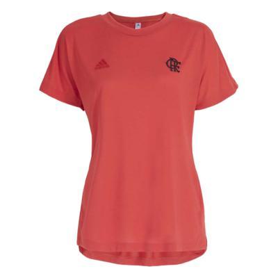 Camisa flamengo feminina viagem tactile red adidas 2021 p