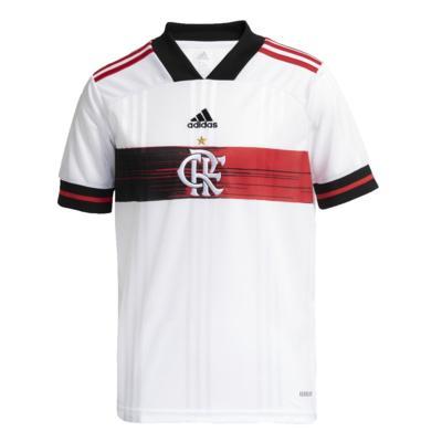 Camisa oficial flamengo ii infantil branca adidas fh7587