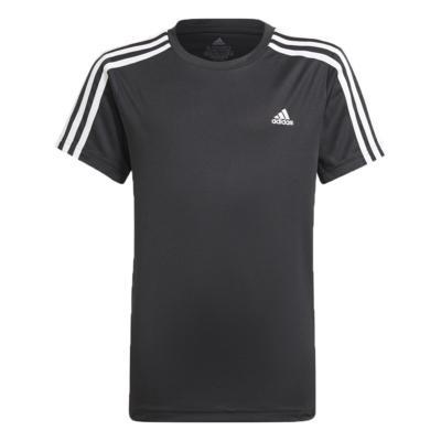Camiseta adidas infantil 3 listras preta menino gn1496 preto