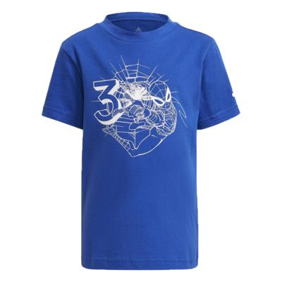 Camiseta adidas infantil homem aranha azul menino gn4935