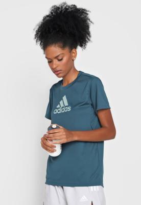Camiseta adidas performance essentials logo verde