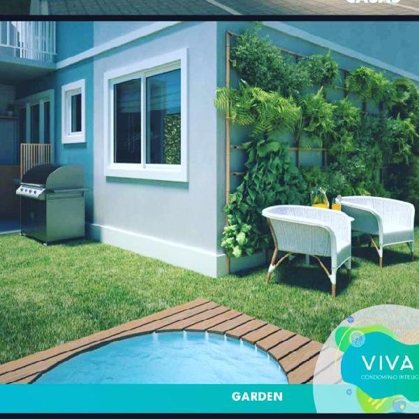Casas com quintal -2 quartos, garagem. nova iguaçu. rj
