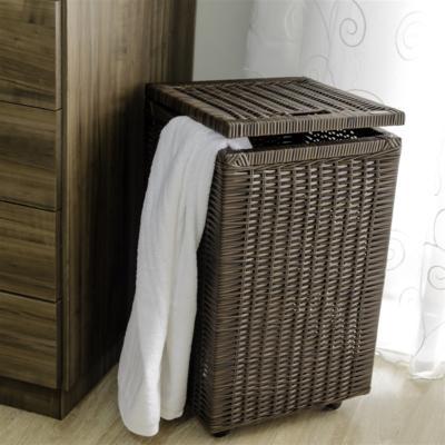 Cesto roupa suja roupeiro fibra sintetica junco argila