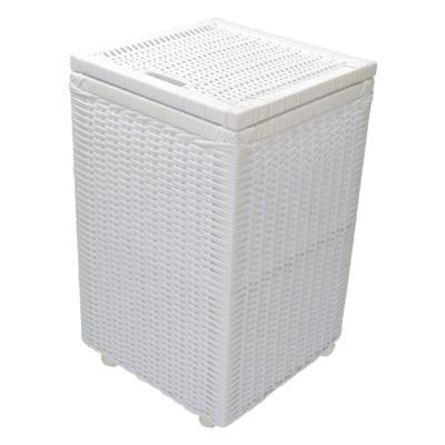 Cesto roupa suja roupeiro fibra sintetica junco branco