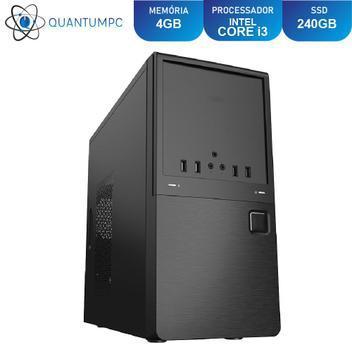 Computador pc cpu intel core i3 4gb ssd 240gb hdmi fullhd