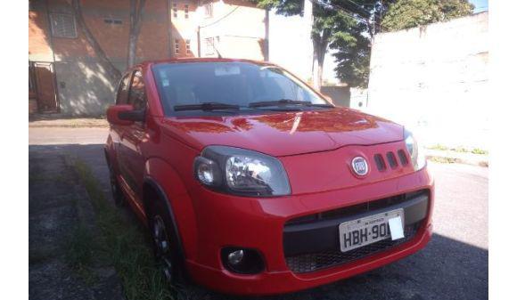 Fiat uno 1.4 sporting 1.4 evo fire flex 8v 4p 11/12 vermelho