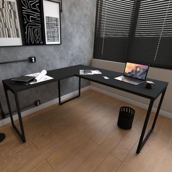 Mesa estilo industrial em formato de l still 1,50x1,50