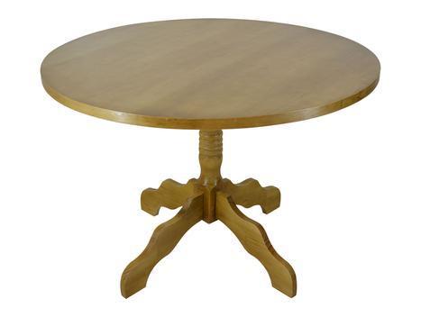 Mesa de jantar redonda madeira sala de estar cozinha pé